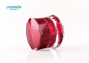 Cina Cylinder Small Makeup Jars, Plastic Cosmetic Jars Dengan Lids Cap Coating Decoration pemasok